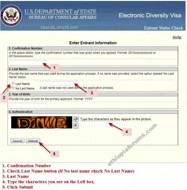 registration process for immigration